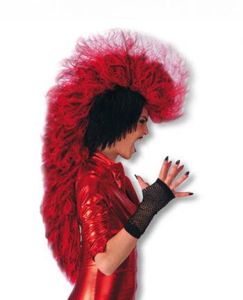 Punk Devil Wig black red