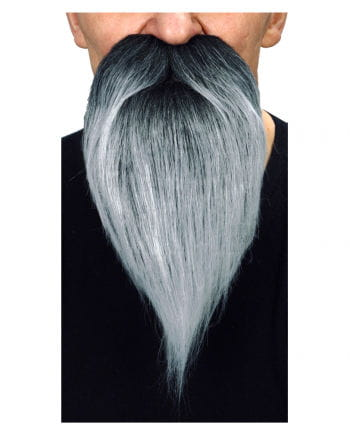 Räuber Bart schwarz grau
