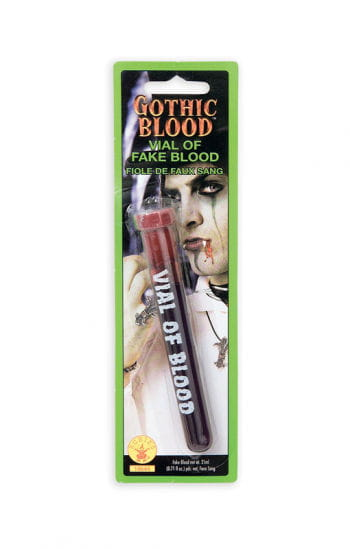 Test tube with fake blood