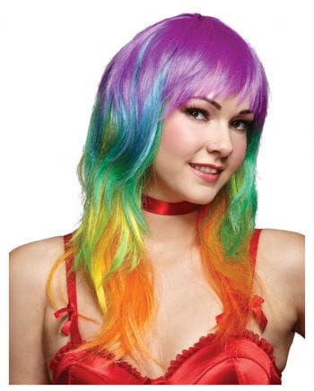 Wavy Rainbow Wig