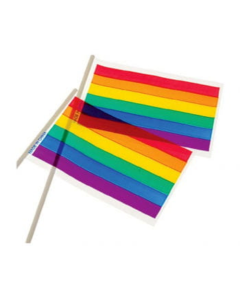 Regenbogen Fähnchen 12 St. 15 x 10 cm