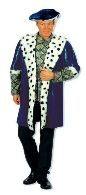 Königsgewand mit Barett XL Männerkostüm