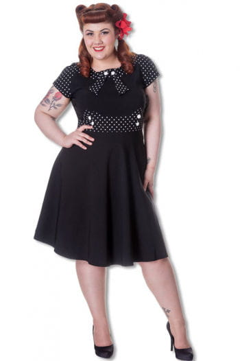 Retro Dress with Dots Plus Size