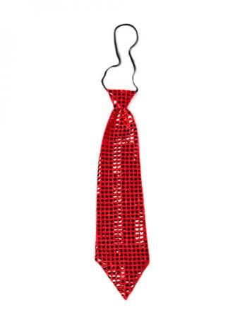 Giant Sequins Tie Red
