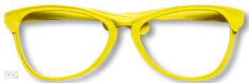 Giant yellow glasses