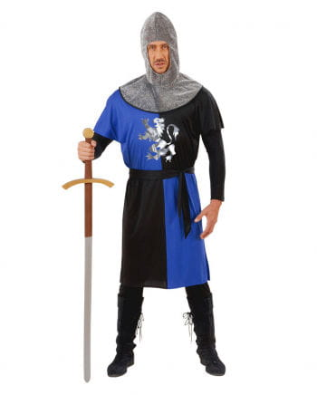 Knight costume blue / black Gr. S