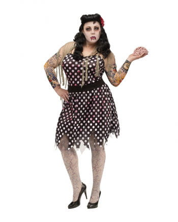 Rockabilly Zombie Damenkostüm Plus Size