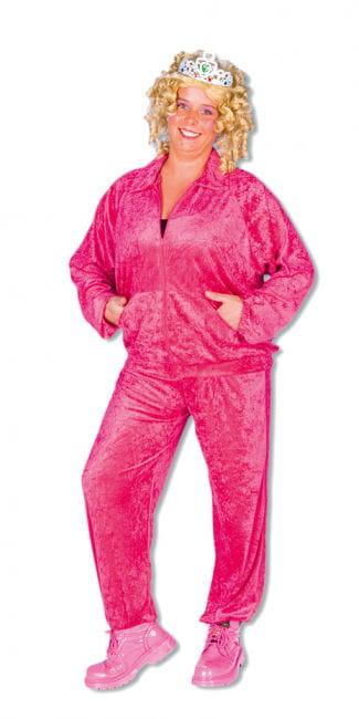 Freizeit Anzug Cindy pink Plus Size
