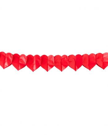 Rote Herz Girlande