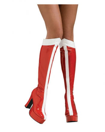 Wonder Woman patent boots red