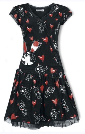 Luv Bunny Ruffle Dress with Print M / 38