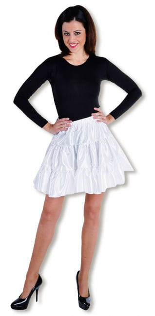 Satin Ruched Skirt white