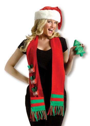 Weihnachtlicher Schnaps Schal