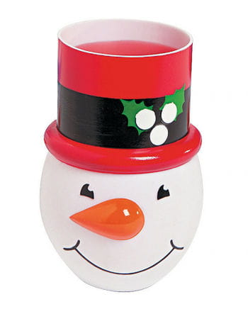 Snowman cups red-black