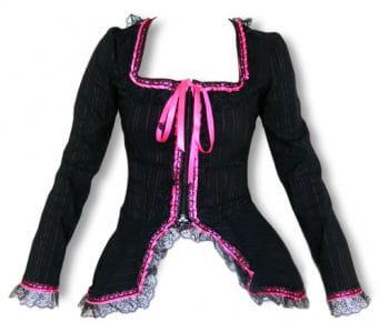 Schößchenjacke black-pink