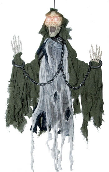 Screaming Skeleton in Chains Prop