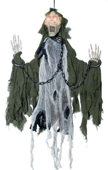 Schreiendes Deko Skelett in Ketten