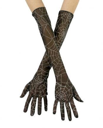 Cobwebs gloves silver