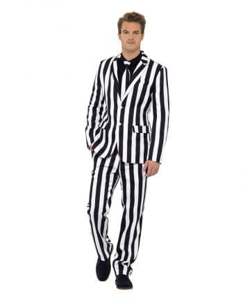 Gestreifter Anzug Schwarz-Weiß
