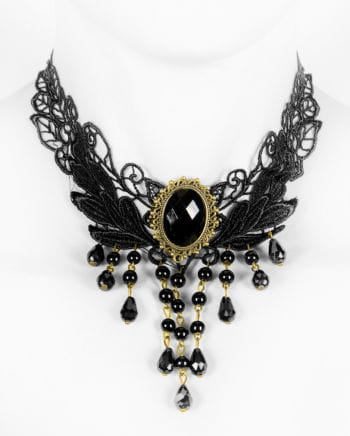 Victorian necklace with gemstone Black