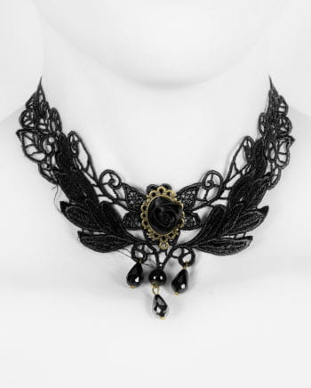 Victorian lace necklace with Rose