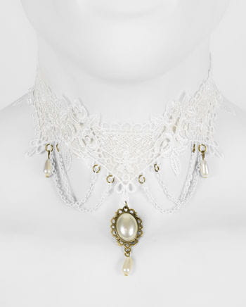 Victorian necklace with white gem