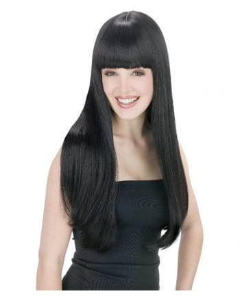 Long Hair Wig Black with Fringe