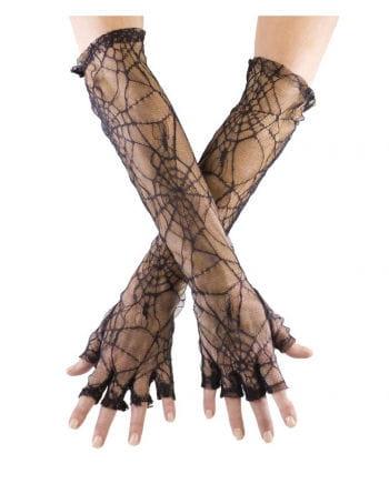 Spinnweben Handschuhe Fingerlos
