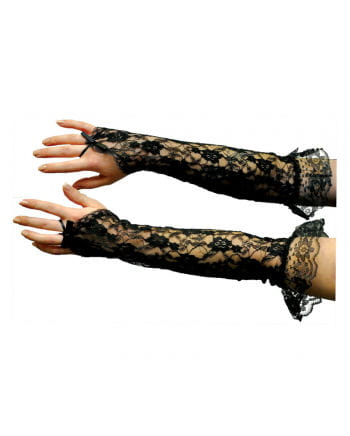 Lace gloves elbow length