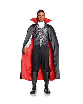 Vampire Satin Cape black / red