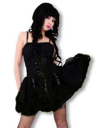 Schwarzes Gothic Minikleid M