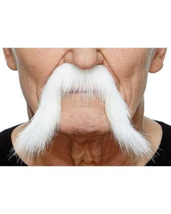 Selbstklebender Mongolen Bart weiß