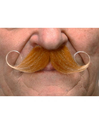 Self-adhesive handlebar mustache heather red