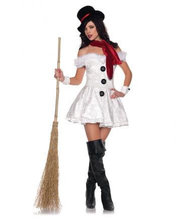 Heiße Schneefrau Premium Kostüm Gr. L