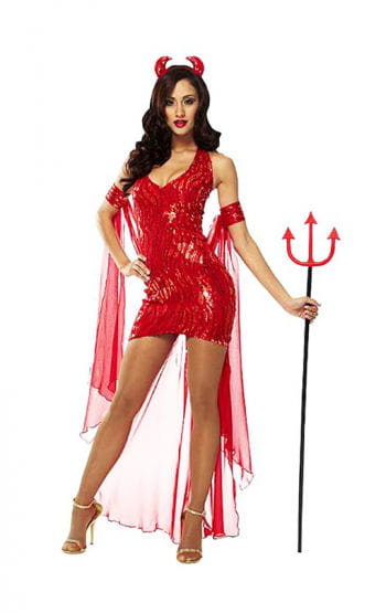 Sexy Devil Queen Costume S / 36