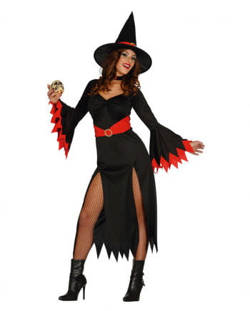 Sexy Witch Witch Costume Black / Red