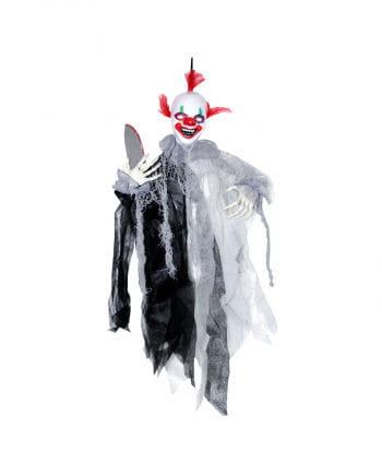 Sich bewegender Horror Clown mit Messer
