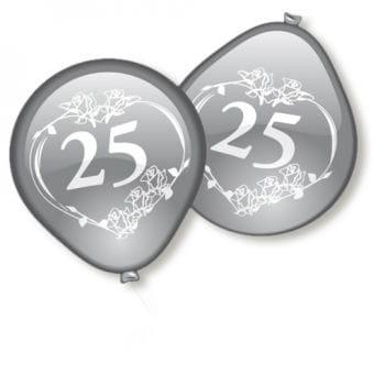 Silberhochzeit Luftballons 10 Stk.