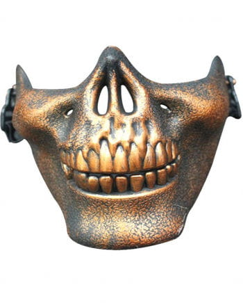 Bronzene Totenkopf Halbmaske