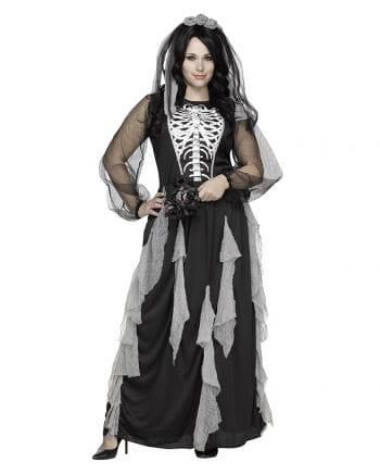 Skelett Braut Damenkostüm PLUS SIZE