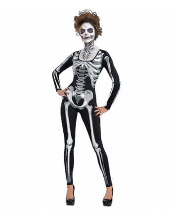 Skeleton catsuit for Ladies