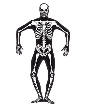Skelett Skinsuit Glow in the Dark XL
