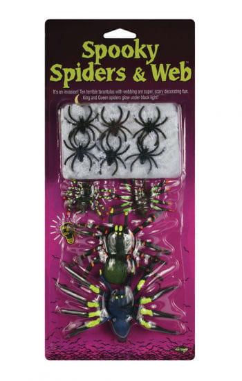 10 Horror Spinnen mit Spinnweben