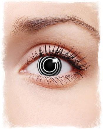Spiral contact lenses Black & White