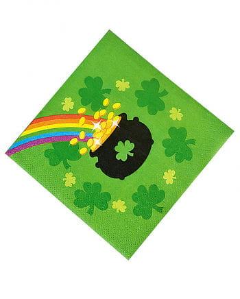 St Patricks Day beverage napkins