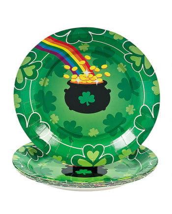 St. Patrick's Day Pappteller klein