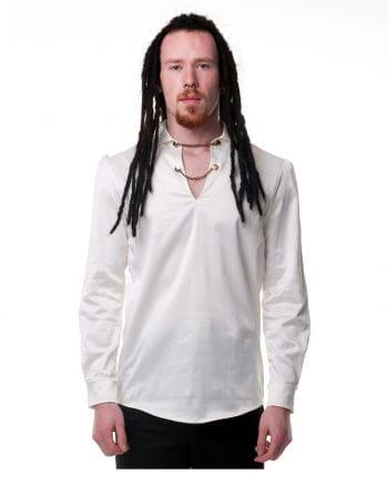 Gothic Männerhemd creme