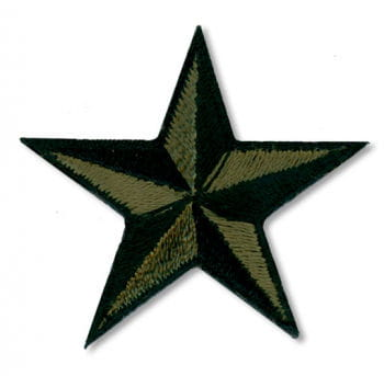 Star Patches Small Green Black