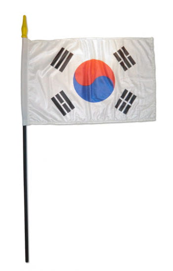 Stockflagge Süd Korea