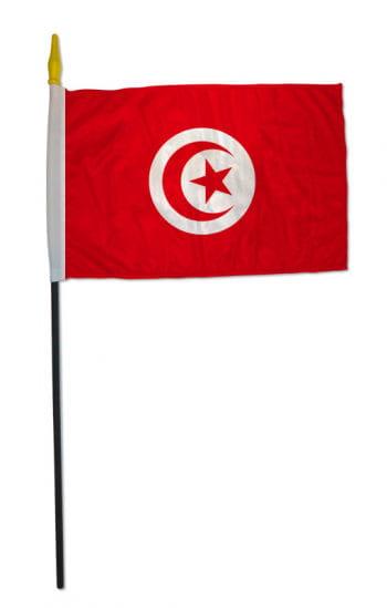 Stockflagge Tunesien klein